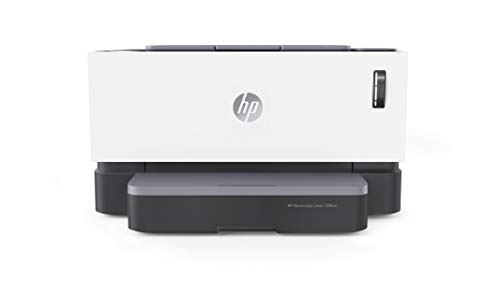 HP Neverstop 1000w WiFi Enabled Monochrome Laser Printer, 80% Savings on Genuine Cartridge, Self Reloadable with 5X Inbox Yield, Smart Tasks with HP Smart App, Low Emission & Clean Air Quality