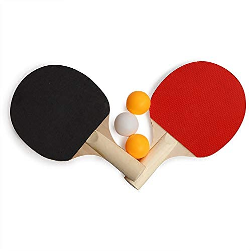 Kiran enterpeises Table Tennis Set, 2 Bats and 3 Ping Pong Balls Make in India Made in India