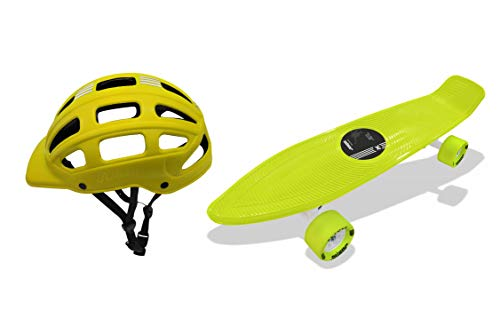 Jaspo Ride on Penny Board Dual Skateboard Combo (22.5' * 5.5') for Age Group Upto 10 Years (Yellow)