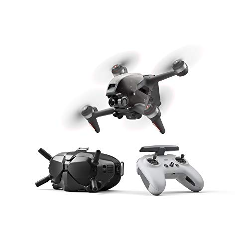 k&j DJI FPV Combo - First-Person View Drone UAV Quadcopter with 4K Camera, S Flight Mode, Super-Wide 150 ° FOV, HD Low-Latency Transmission, Emergency Brake and Hover, Gray.