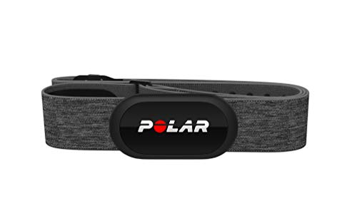 POLAR H10 Heart Rate Monitor, Bluetooth HRM Chest Strap - iPhone & Android Compatible, Gray