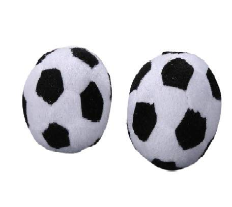 Pets Empire Plush Football Fluffy Stuffed Dog 6 Inch Football Toy Soft Football Plush Pillow Durable Football Stuffed Plush Toy Safe Soccer Ball Gift for Your Lovely Pet (Single Pack, 6 Inch)