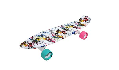 jaspo Cruiser Retro Penny Fiber Skateboard - 22'X5.5' Inches Suitable for Age Group Up to 12 Years, Multicolour