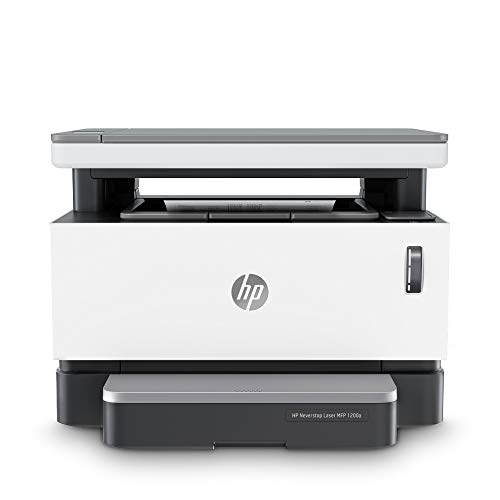 HP Neverstop 1200a Laser Printer, Print, Copy, Scan, Mess Free Reloading, Save Upto 80% on Genuine Toner, 5X Print Yield (USB Connectivity)