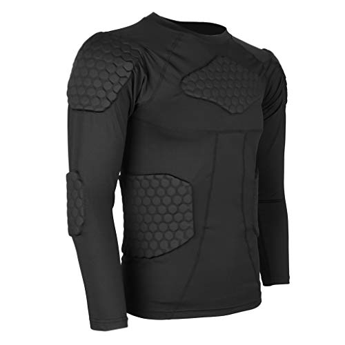 MAXBELL Mens Compression Shirts Cycling Tight Fitness T-Shirt Long Sleeve M