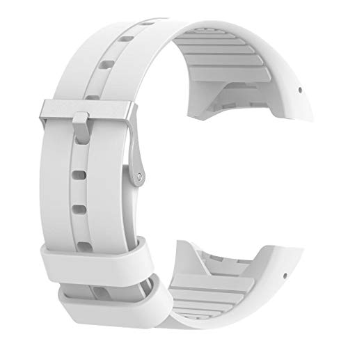 Wowobjects® Silicone Wrist Strap Band & Metal Buckle for Polar M400 M430 Watch (White)   Pack of 1