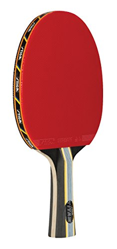 Stiga Titan Table Tennis Racket with Crystal Technology to Harden Blade for Increased Speed, 2mm Sponge and Concave Italian Composite Handle