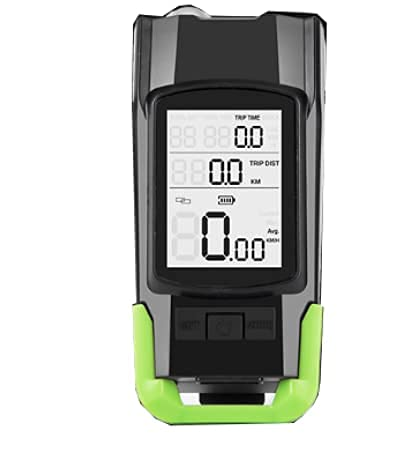 Lista USB Rechargeable Bike Head Light, Computer 3 Mode Horn Flashlight, Speedometer Led Front Light Cycling Odometer Stopwatch