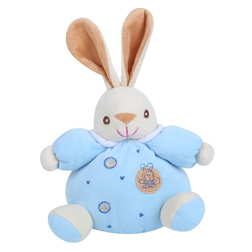 Infant Calming Toy, Good Gift Soft and Comfortable 6.3 X 7.1in Kawaii Stuffed Animals for Soothe The Baby(Blue)