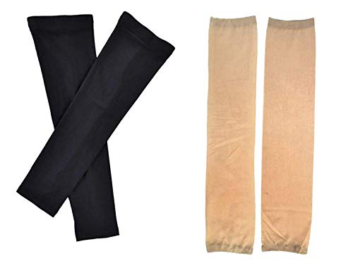 Majik Uv Protection Arm Sleeves For Boys And Girls - Skin Colour - 2 Pcs