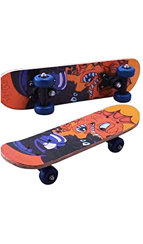 A&C Wood Skateboard (Multicolor, 17 Inches x 5 Inches)