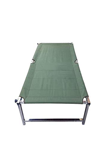 Gitesh Folding Beds with Carry Begs, Strong Stable Folding Camping Bed, Stainless Steel, Light Weight, Great for Travelling & Home Set of 1 pcs