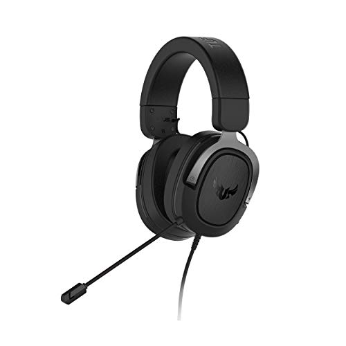 ASUS TUF H3 Gaming Headset (Gun Metal), TeamSpeak Certified  7.1 Surround Sound   Gaming Headphones with Boom Microphone for PC, Playstation 4, Nintendo Switch, Xbox One, Mobile Devices