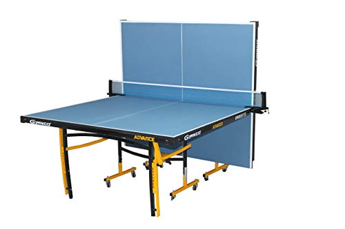 Gymnco Advanced Table Tennis Table with Levellers Top 18 mm (Cover + 2 TT Racket & Balls