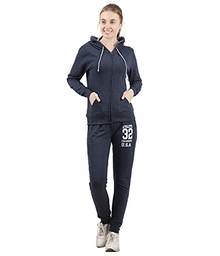 Checkersbay Womens Loopknitted Track Suits (BLUE MELANGE, L)