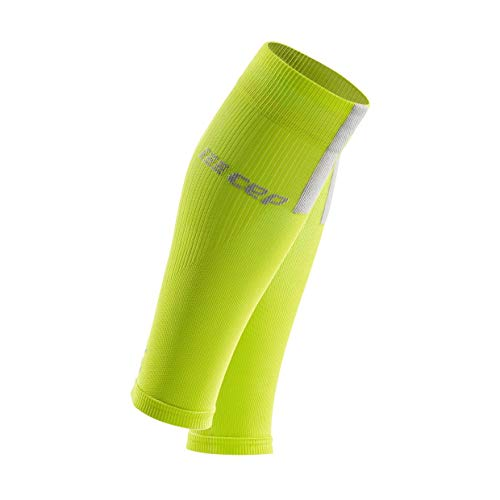Men's Compression Run Sleeves - CEP Calf Sleeves 3.0, Lime/Light 3