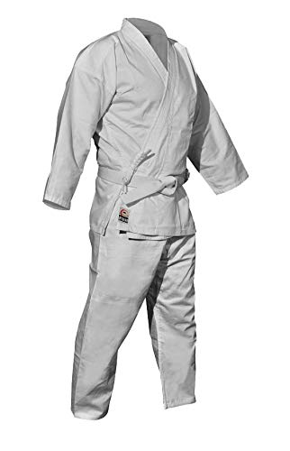 XIONI Unisex Karate Uniform Size 28 for appx. 8 to 10 Year Old for Practice and Tournament Purpose