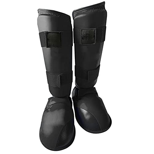 WorldCare® Shin Guards Instep Leg Protector Gear for Martial Arts Sparring Bo Kickbo Thai Training Pads-CS-A-30879