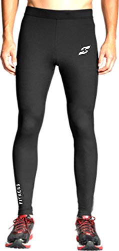 Just Care Just Care Women Compression Pants - Workout Leggings for Gym, Basketball, Cycling, Yoga, Hiking - Performance Running Full Length Tights Lower - Athletic Base Layer Pants (Black, X-Large)