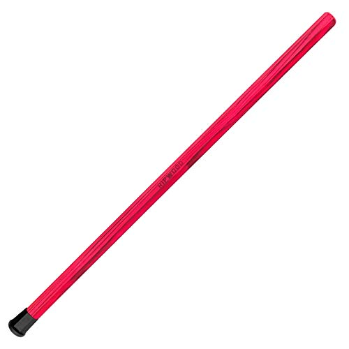 RipWood Pink Wood Lacrosse Shaft - Solid Wood (Ash) Attack Lacrosse Shaft/Stick (Made by Hand in The USA) with Jimalax End Cap