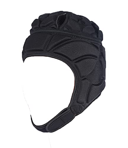 Soft Padded Rugby Headgear 7V7 Head Protection for Youth Adult Soft Shell Head Protector Goalkeeper Soccer Goalie Helmet Support Rugby Flag Football Protect Cap Hat Headguard