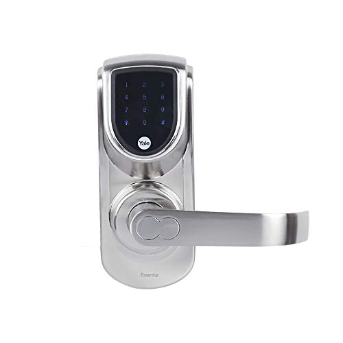 Yale YDME 50 Digital Door Lock with RFID Card, Pincode & Mechanical Key Access, Color- Silver(Free Installation)