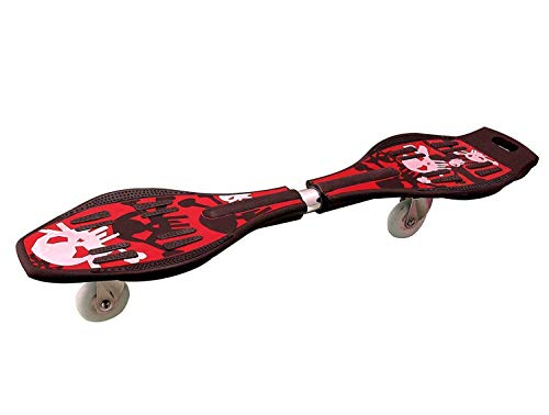 ZURITY Plastic Alloy Made Heavy Duty Wave Board Two Wheel Skate Board with 360 Degree Rotating Wheel Shock Proof Brake with LED Flash Colourful Lights (Upto 90 Kg, Multi Color)