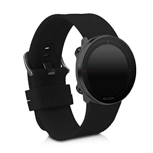 kwmobile Silicone Watch Strap for Polar Vantage M - Fitness Tracker Band - Sports Wristband Bracelet with Clasp