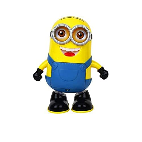 BACKGAMMON® Dancing Minion Toy with 3D Lights and Music 360 Degree Rotation Activity Play Center Toy Baby Toy Action Figure Toy Robot Toy for Kids Children and Toddlers