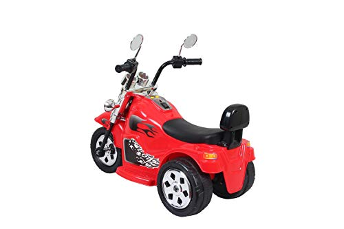 HLX-NMC 3-6 Years 6v Single Motor Super Cruiser 3 Wheel Rechargeable Battery Operated Bike for Kids - Red