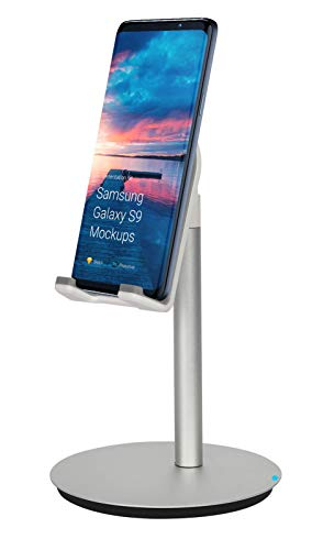 SortCircuit SM-888 RealSmart Mobile Phone Stand | Angle Adjustable Smart Phone Desk | Compatible with iPad, Galaxy Tablet, iPhone, Samsung Galaxy and All Android Phones Upto 10 inch (Silver)