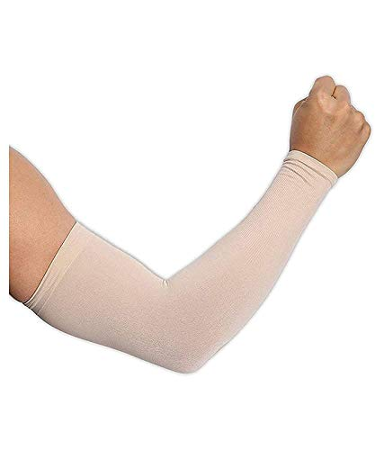Veteran Skin Colour Protection Arm Sleeves Hand Socks for Men and Women (Pack of 2 Pairs)Unisex Used for Driving,Hiking,Sports,Biking,Cycling,Sunburn,Dust & Pollution Protection (Beige)