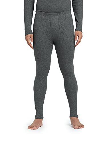 XYXX Men's Thermal Long Johns   Antibacterial, Skin Friendly with Superior Heat Retention   Slim Fit Full Length Solid Alpine IntelliHeat Thermal Long Johns   Pack of 1 (Charcoal Grey, Large)