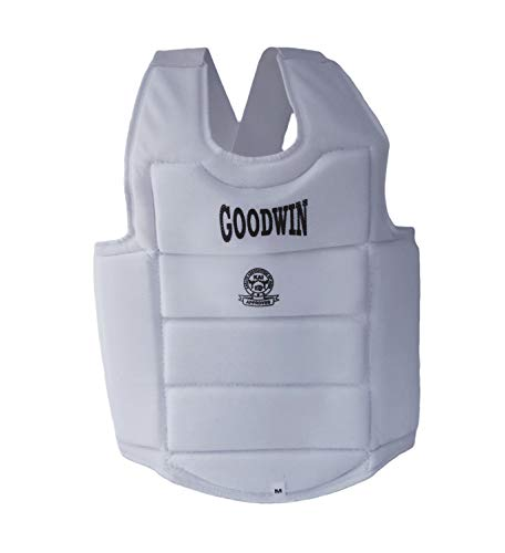 Kai Approved Goodwin Karate Chest Guard Off-White (Small)
