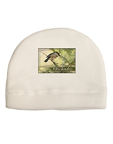 TooLoud CO Chickadee with Text Child Fleece Beanie Cap Hat