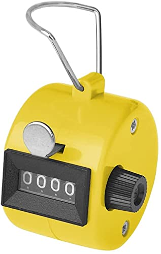 SYGA Hand Tally Counter, Digit Number Lap Counter Manual Mechanical Clicker with Finger Ring - Random Color