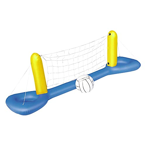 Generic Inflatable Volleyball Net 96.1 x 25.2 inch Volleyball Inflatable Pool Float Set for Kids Adults Swimming Game Toy Summer Floats