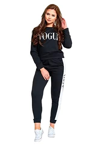Ellevena Women's Solid Stripes Track Suit   Hot looking Striped Tracksuit Full Sleeve Top & Leggings Pants Outfit Set for Girls Yoga Pants, Joggers, Gym, Active Lower Wear All Season (M, Black)
