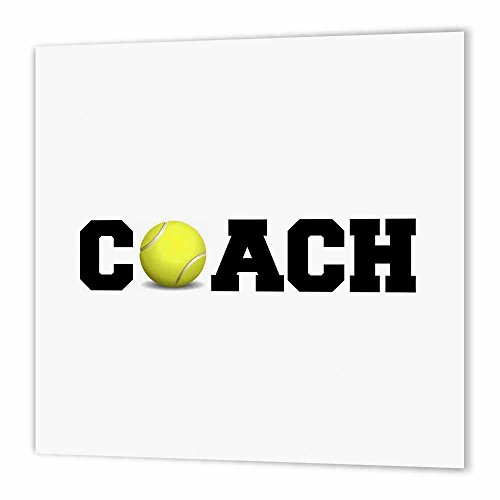 3dRose ht_192409_3 Coach, Black Letters with Tennis Ball on White Background-Iron on Heat Transfer Paper for White Material, 10 by 10-Inch