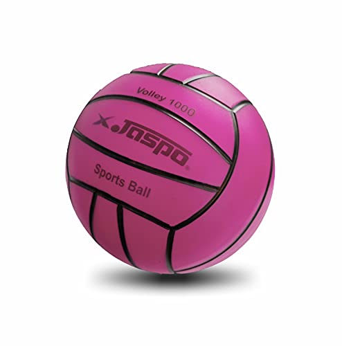 Jaspo Soft Touch Recreational 9 Inches PVC Inflatable Beach Ball / Volleyball - Perfect Size for Indoor or Outdoor Play - (Pink)