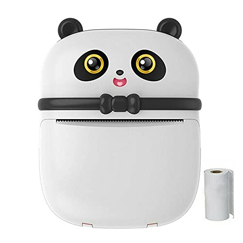 Decdeal Portable Thermal Printer Panda-Shaped Mini Pocket Wireless BT Label Photo Printers Fast Printing for Photo Album DIY Home Office Use