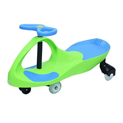 R for Rabbit Iya Iya Swing Car for Kids/Baby   Twister Ride On Car   Magic Toy Car for Kids   120 Kgs Weight Capacity   3+ Years with Scratch Free Wheels (Green Blue)