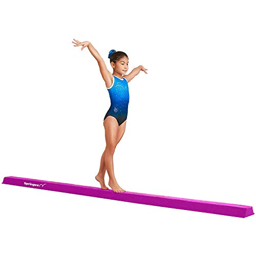 9.5' Balance Beam - Folding Gymnastic Beam for Girls, Boys, Teens - Increase Confidence and Skill in Your Kids - Extra Firm Gymnastics Equipment for Home Use (Purple)