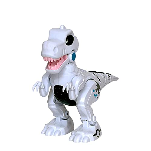 WISHKEY Robot Walking Moving Dino with Flashing Lights and Realistic Dinosaur Sound, Fun Entertaining Toy for Kids 3 Years & Above ( Pack of 1, White)