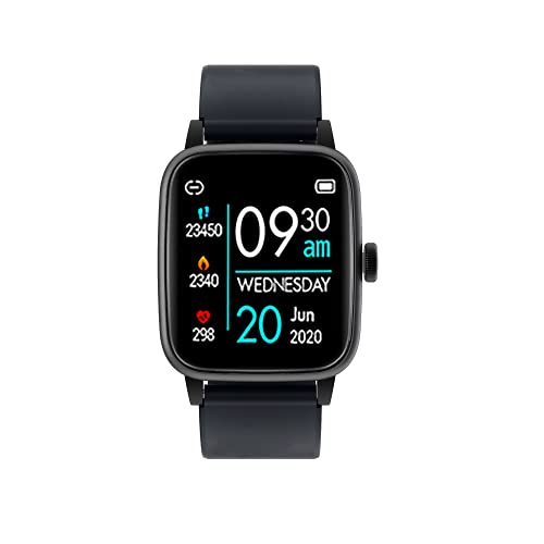 MANTARA SB-010 Bluetooth Smart Watch with Inbuilt Games , Heart Rate Monitor, Blood Pressure,Blood Oxygen , Fitness Smart Watch for All Android/iOS Mobile for Unisex (Black)