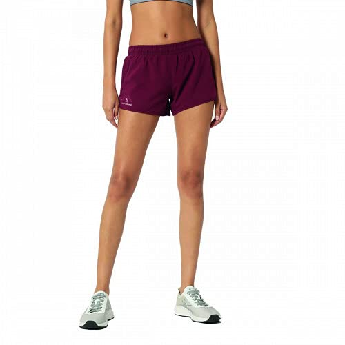 CULTSPORT Women's Polyester Solid Workout Regular Fit Shorts (Maroon) (S) (CS600994S)