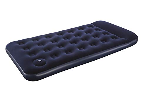 Bestway 67224 Other Pavillo Inflatable Mattress Camping Air Bed for Sleeping Car Travel | Cushion Comfort with Twin Foot Pump 74x39x11 inches/ 188x99x28 cm (Blue)