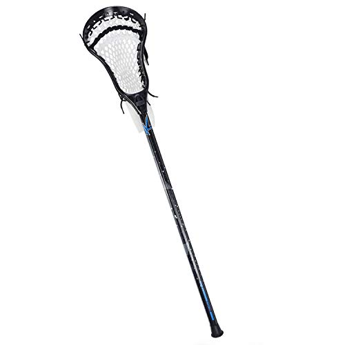 CAKLOR Lacrosse Complete Attack/Midfield Stick with Shaft & Head Mens-1 Stick,Black and White Soft net