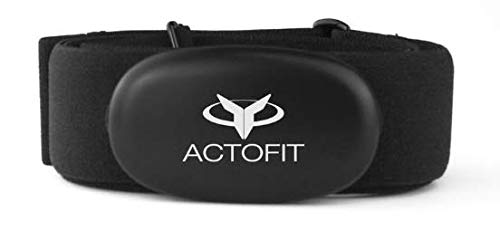 Actofit Heart Rate Monitoring Chest Strap, Bluetooth - Black