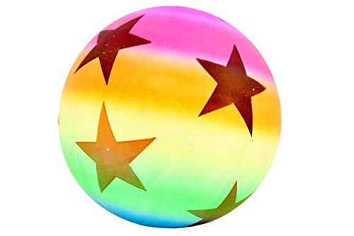 Firstly Beach Ball Colorful Rainbow Color Inflatable Volleyball Kids Children Game and 1 PCS Simley Ball Free Free Free